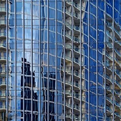 Abstract Reflection (2n2907) Tags: abstract architecture reflection glass office building windows skyscraper graphic geometric geometry pattern lines wonky olympus digital omd mirrorless