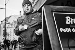 Smoker (rainerneumann831) Tags: bw blackwhite street streetscene ©rainerneumann urban monochrome candid city streetphotography blackandwhite paris mann zigarette