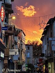 Argelès sur Mer (France) (Domènec CAT) Tags: francia argelès atardecer calle casas pueblo france sunset street houses village cielo sky