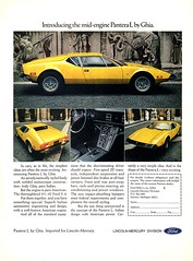1973 Ford Pantera USA Original Magazine Advertisement (Darren Marlow) Tags: 1 3 7 9 1973 19 73 f ford pantera p c car cool collectible collectors classic a automobile v vehicle i italy italian e european europe 70s