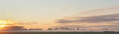 Misty polder (Hans & Liek) Tags: nederland netherlands friesland sunset zonsondergang polder countryside platteland panorama