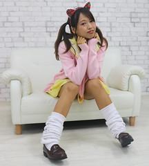 Catch As Classy Cat Can (emotiroi auranaut) Tags: student girl woman model catears uniform socks shoes cute pretty beauty charming
