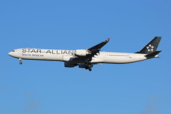 ZS-SNC A340-642 SAA Star Alliance colours (Retro Jets) Tags: staralliance saa southafricanairways a340 a346 lhr
