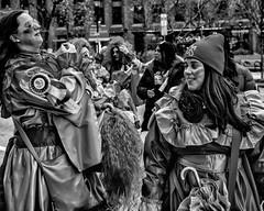 New Year's Day Mummers Parade, 2020 (Alan Barr) Tags: philadelphia 2020 mummer mummersparade mummers newyear street sp streetphotography streetphoto blackandwhite bw blackwhite mono monochrome candid city people olympus omd em5