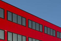 Red office (Jan van der Wolf) Tags: map20028vv red redrule windows ramen gevel facade rood architecture architectuur office kantoor hoofddorp gebouw building