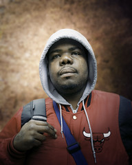 T'wan (mckenziemedia) Tags: man portrait portraiture face hood jacket chicago city urban street streetphotography people humanity homeless homelessness