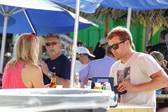 """""""Check, please."""" (The A Eye) Tags: people dockbar restaurant cafe couple onadate dining candid sunglasses summer summertime"""