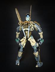 Oro (Ron Folkers) Tags: lego bionicle technic system moc tan grey dark gold armor swords warrior lihkan