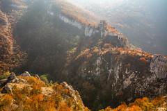 Hazy Fortress (Milos Golubovic) Tags: sokograd sokobanja lepterija serbia srbija fog sunlight hazy fort fortress stronghold mountain hill autmun sokolac
