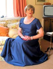 Robinblugwnsit (fionaxxcd) Tags: transvestite trannie tranny crossdresser crossdressing mtf m2f gurlboy bust eveninggown ballgown blonde