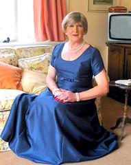 Robinblugwnsit-001 (fionaxxcd) Tags: transvestite trannie tranny crossdresser crossdressing mtf m2f gurlboy bust eveninggown ballgown blonde