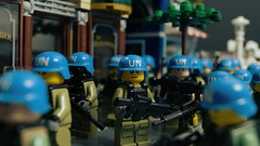 Lego UN troops during the Outbreak (Force Movies Productions) Tags: war weapons world wars eastern rifle rifles toy toys trooper troops troopers troop toyphotography youtube un united photograpgh photo photograph picture pose photoshop photography animation army asia scene soldier stopmotion soldiers second film firearms gun guns helmet helmets lego legophotograghy legophotography custom cool conflict vest bricks brickfilm brickarms brickizimo brickmania brick blue nation minfig minifig military minifigure minifigs moc movie