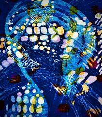 alas, i am feeling blue (delnaet) Tags: batik kunst art blue abstract cotton katoen textiel painting schilderkunst
