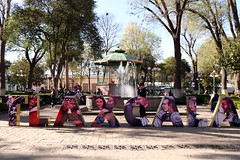Tlaxcala (Prayitno / Thank you for (12 millions +) view) Tags: tlaxcala mx mexico zocalo sign name water fountain