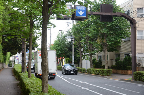 Southern End of Crossing in Shifting Center Line Section of Mitaka-dori at the South of Mitaka Station