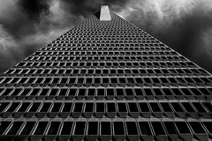 Reaching the Sky (lfeng1014) Tags: transamericapyramid reachingthesky skyline building tallbuilding blackandwhite bw architecture perspective canon5dmarkiii ef2470mmf28liiusm structure iconic landmark travel lifeng sanfrancisco california usa