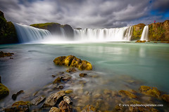 Godafoss - Iceland (My Planet Experience) Tags: godafoss goðafoss fall waterfall river water cloud people rock scenery landscape nature long exposure horizontal island iceland is myplanetexperience wwwmyplanetexperiencecom