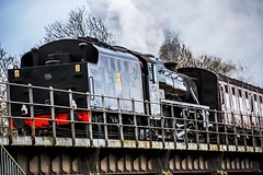 The Fenman (nickym6274) Tags: nenevalleyrailway nenevalley peterborough wansfordstation uk nvr steamtrain train stanierclass 1945 crewe williamstanier thefenman 44871 steam bridge