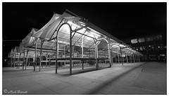 City Traders - York Market stalls by Night (M a r k . . . . . . . . . . . . .) Tags: york blackandwhite monochrome blackwhite markbarratt nightphoto afterdark wideangle citynight wideanglephoto wideanglephotograph sigma sigmawideanglelens wideanglenightshot