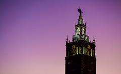 La Giralda (KC Mike Day) Tags: tower seville giralda la kcmo spain cities sister nichols jc canon 85mm sunset pink purple hues plaza club country