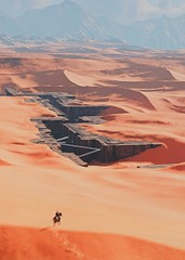 """Secret in the sands"" (L1netty) Tags: assassinscreed assassinscreedorigins ubisoft ubisoftmontreal pc game gaming pcgaming videogame reshade screenshot virtual digital srwe 6k character bayek bayekofsiwa man male people rider horse sky clouds sand color outdoor"