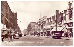Sauchiehall Street, Glasgow. (Paris-Roubaix) Tags: sauchiehallstreet glasgow abccinema antiquepostcardsofscotland vintagescottishpostcards 1961