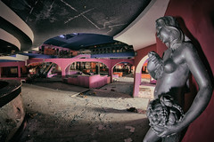 panic at the disco (Szydlak Szk) Tags: panic disco urbex szydlak szk decay derelict decayed flickr defunct statue sculpture woman femal naked bar pink forgotten forlorn fotografia forsaken urban urbanexploration architecture interior daub trash decaying deteriorated desolate destroyed decline dance photography verlassene orte boobs övergiven haikyo 廃墟 opuszczona dyskoteka
