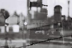 Portland Multiple Exposure (goodfella2459) Tags: nikonf65 ilfordpanfplus50 35mm blackandwhite film analog city portland oregon experimental multipleexposure doubleexposure bwfp abstract