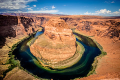 Horseshoe Bend (Justin Kanner) Tags: horseshoebend pagearizona landscapes landscape coloradoriver river wilderness nature outdoor roadtrip photolocation justinkanner canon 14mm bluesky wanderer canyon cliffs danger edge
