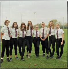 forwards and backs (steve-jack) Tags: hasselblad 501cm 50mm cfi lomography colour 800 film 120 6x6 medium format hitchin u15s girls rugby team tetenal c41 kit