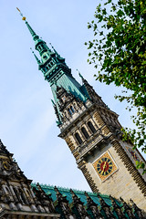 Hamburg Town Hall (George Plakides) Tags: rathaus hamburg townhall germany sculptures emperors spire copperroof