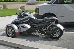 Can-Am Tricycle, Miami, Florida (gg1electrice60) Tags: tricycle motorcycle downtownmiami miamimetropolitanarea miamimetroarea biscaynebay waterfront miami miamidadecounty florida fl america parkinglot mainland portofmiami waterfrontpark chevymodel3500truckvan chevroletmodel3500van