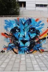 Rise Up_7474 La Pitié-Salpêtrière Paris 13 (meuh1246) Tags: streetart paris animaux riseup lapitiésalpêtrière paris13 lion