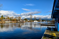Pitt Meadows Marina/ Pitt River/ South Arm Alouette River (SonjaPetersonPh♡tography) Tags: pittmeadows marina pittmeadowsmarina pittriver southarmalouetteriver britishcolumbia canada bc alouetteriverdykestrail reflections waterscape waterreflections river docks view viewpoint landscape boats moorage serene calm water riverfront gasbar floatingdocks scenic scenery