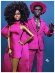 In The Pink (FashionDragon) Tags: africanamerican adelemakeda dariusreid blackbarbie fashionroyalty nuface fashiondoll designerdoll jessyayala davidbuttery byronlars jasonwu stephenburrows bobmackie integritytoys blackdoll