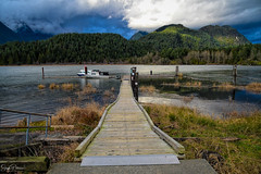 Pitt Lake Marina/ Pitt-Addington Marsh Wildlife Management Area (WMA) (SonjaPetersonPh♡tography) Tags: pittmeadows pittpolder britishcolumbia canada pittlake nikon nikond5300 afsdxnikkor18300mmf3563gedvr landscape wetlands scenic scenery waterscape lake grantnarrowsregionalpark pittriver nature mountains mountainlandscape pittaddingtonmarshwildlifemanagementarea wma pittlakedykes outdoors boating fishing pittaddingtonmarsh marsh wildlife