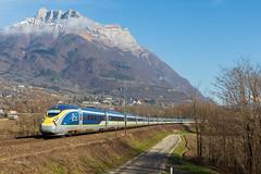 E320 sous l'Arclusaz (Maxime Espinoza) Tags: train eurostar grande vitesse e320 velaro d 9094 bourg saint maurice londres savoie alpes arclusaz