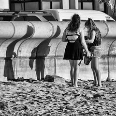 Curvy Shadows (Steve Crane) Tags: helderberg southafrica strand westerncape beach people shadow shadows woman women