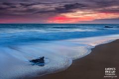 Resistencia (Andres Breijo http://andresbreijo.com) Tags: atardecer sunset playa beach roca resistencia cielo nublado colores maravilla horizonte conil cadiz andalucia españa spain