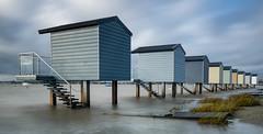 Essex Saint Osyth (daveknight1946) Tags: essex huts beachhuts water longexposure riverblackwater osyth