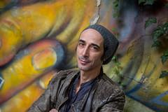 Portrait (Gabi Breitenbach) Tags: asad schwarz fccbestof2019 graffiti actor session colours abandonedplaces italy asadschwarz portrait portraitphotography fingers