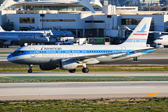 American Airbus A319-112 N744P (Mark Harris photography) Tags: spotting lax la canon aviation