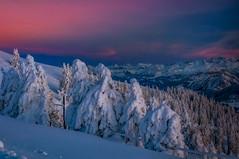 Evening (ceca67) Tags: mountain nature landscape winter beauty colors dusk snow trees evening svetlanapericphotography bestcapturesaoi elitegalleryaoi aoi