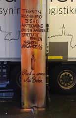 Ari Behn RIP (svennevenn) Tags: aribehn tegson rochihiro bishosevillano graffiti gatekunst streetart bergen