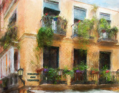 Canuelo San Bernardo (sbox) Tags: malaga spain españa painting painterly buildings architecture sbox declanod balconies flowers windows