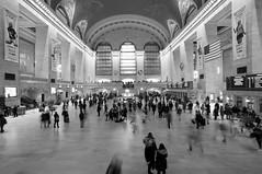 Rush Hour (arlene sopranzetti) Tags: grand central station new york city people rush hour commute monochrome bw long exposure