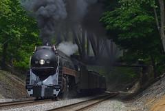 Mother's Day Delight (Tristan_Miller) Tags: nw norfolk western railway j class 611 steam engine locomotive virginian bridge mothers day excursion wabun va virginia