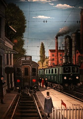 schaarbeek - trainworld - paul delvaux (Retlaw Snellac Photography) Tags: belgium schaarbeek art trainworld pauldelvaux