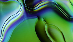 An Emulsional Time (Bill Gracey 25 Million Views) Tags: emulsion color colors colorful light blankcd blue green purple cookingoil water