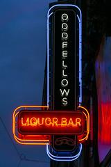Oddfellows (GmanViz) Tags: gmanviz color sonya6000 neon sign sky shortnorth columbus ohio